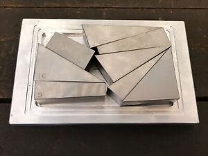 Engineers Angle Blocks 4°, 5°, 10°, 15°, 20°, 25°, 30°, 45° Gauge Blocks