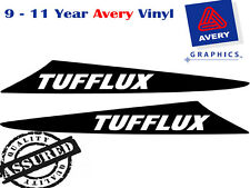 TUFFLUX Decal Sticker For Hilux 2 Fin Small Bonnet Scoop 2005 TO 2011 4X4