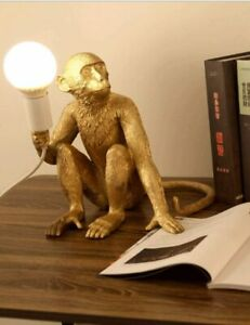 Seletti Modern Table Light,Monkey Desk Lamp,Resin Sitting Lighting Fixture Home