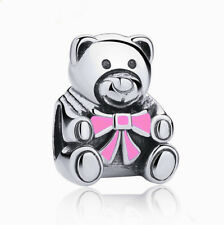 NEW European Silver plated Charm Bead Fit sterling 925 Necklace Bracelet D#150