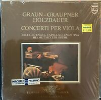 PHILIPS 9502 067-GRAUPNER-GRAUN-CONCERTOS FOR VIOLA-ORIGINAL LP-IMPORT PROMO