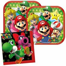 Cedar Crate Market Super Mario Party Supplies Pack for 16 Guests Includes: 16 D