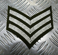 Genuine British Army Sergeant Rank Stripes / Chevrons / Badges / Patches