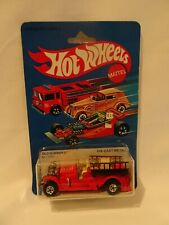 1983 HOT WHEELS - OLD NUMBER 5 FIRE TRUCK, New on card