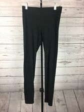 VS Victoria's Secret PINK All Black Stretch Full length Leggings Size S Small