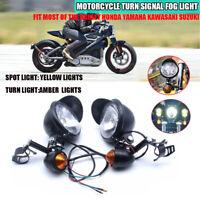2x Scheinwerfer & Blinker Universal Motorrad Roller ATV Nebelscheinwerfer