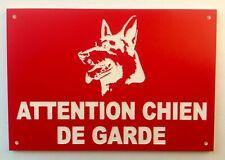 plaque panneau ATTENTION CHIEN DE GARDE