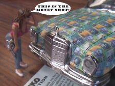 Vintage Tin Friction Car... Mercedes 250-SE With Pimp Theme (Diorama Figures)