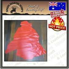 KANGAROO LEATHER HIDE Skin Red Chrome Tanned Finish - Australian Tanned