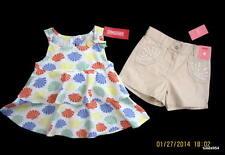 Gymboree Mermaid Magic Seashell Layered Top Shirt Tan Sequin Shorts Set 5 5T NWT
