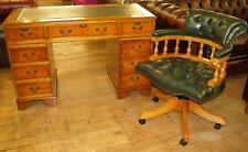 Chesterfield leather computer desk BRAND NEW