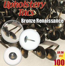 Upholstery Studs Pack Antique Studs Bag 100 Tacks/Nails Tacs Bronze Renaissance