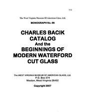 Bacik Cut Glass Catalog-Czechoslovakian/Waterford