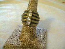 """LIA SOPHIA Diverge Ring 1"""" Long Size 8 Retail $62 Awesome Ring!!"""