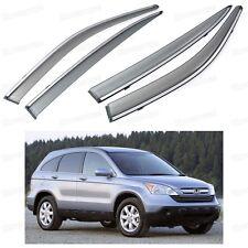 Front & Rear Side Window Visor Deflectors Vent Shade for Honda CR-V 2007-2011