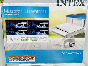 Multi-Color LED Waterfall Cascade~Intex Above Ground Pool~w/Hydroelectric Power
