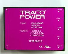 TRACOPOWER Mains AC 30W PCB Mount Switch Mode Power Supply 5V @ 3A ±12V @ 600mA
