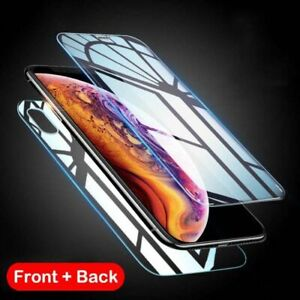 Front and Back Tempered Glass Screen Protector Film Guard For iPhone 12 11 XS SE