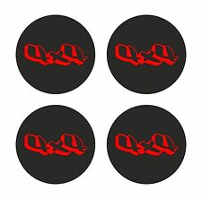 4x4 Truck 4x Stickers for Center Cap Wheels, Bumper Rim Truck Car SUV Tablet