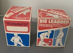 (2) Vintage 1979 Hostess Baseball Card Organizer Storage Box Cool Display Items