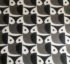 "Orla Kiely Small Owl Soft Grey FQ 20"" 50cm square fabric new lightweight Birds"
