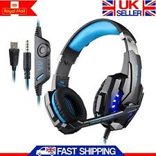3.5mm Gaming Headset MIC LED Headphones Surround for PS4 Xbox One PC Mac Laptop