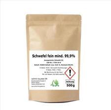 Anorganischer Schwefel, fein mind. 99,9%, 500 Gramm