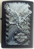Zippo Harley Davidson HD Iron Eagle Black Matte WindProof Lighter 28485 L@@K NEW
