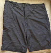 Young Men's HURLEY Black Gray Stripe Board Shorts Size 32
