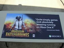 PlayerUnknown's Battlegrounds XBOX Promotional Magnetic Banner Poster PUBG Promo