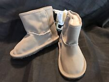 Nwt Babygap Unisex Faux Fur Grey Boots Size 18-24 Months