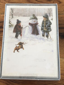 """Trim A Home """"Kids, Snowman & Puppy Dog"""" Christmas Cards 16 Ct w/Envelopes NEW"""