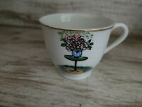"Beautiful Vintage Antique Small 2"" China Victoria Ceramics Japan Tea Cup"