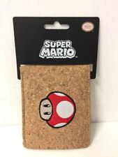 Super Mario Bros Wallet Mushroom Design Official Nintendo Bioworld NEW Gift