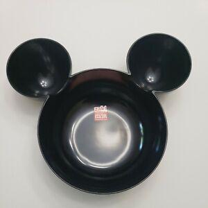 Zak! Designs Mickey Mouse Head Chip Dip Bowl Black  Plastic ServingEars 11.5 NEW