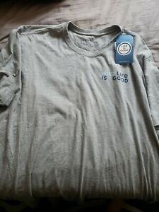 Brand New With Tags LIFE IS GOOD mens 3xl Tshirt