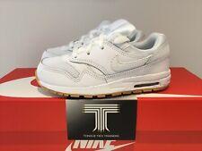 "Nike Air Max 1 (TD) ~ ""Triple White"" ~807604 101 ~ Kids Size Uk 9.5c ~ Euro 27"