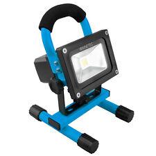 NINETEC 10W LED Flutlicht Fluter Bau Strahler Scheinwerfer wiederaufladbar Blau
