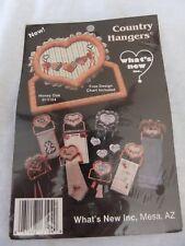 Country Hangers Heart Cross Stitch Design Cart Craft Project Kit - Honey Oak