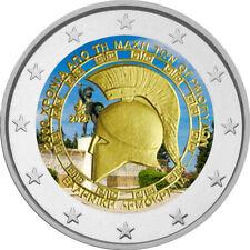 2 Euro Gedenkmünze Griechenland 2020 Thermophylen coloriert / Farbe / Farbmünze
