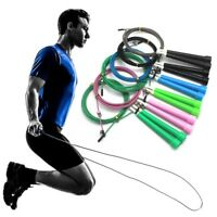 xFitness 10ft Adjustable Speed Jump Rope Aerobic Exercise Skipping Weighted Wire