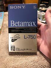 NEW SEALED!! Sony Betamax Blank Beta Tape L-750 Super Hi-Packing High Resolution