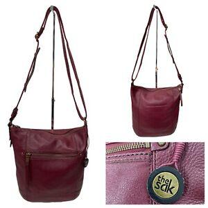 The Sak Real Leather Burgundy Crossbody Bag Size M