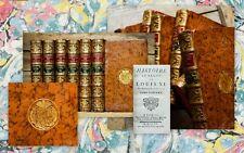 1755 Wappeneinbände Armorial Bindings Louis XI Baudot de Juilly Lussan 6 Vol