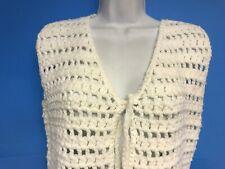 New listing Vintage 70's Handmade Women's White Sweater Vest-Medium