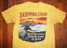 PALMER CASH / SKIPPING STONE / UINTA BREWING LAGER BEER / YELLOW T-SHIRT SIZE S