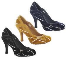 Ruby Shoo Court Striped Heels for Women