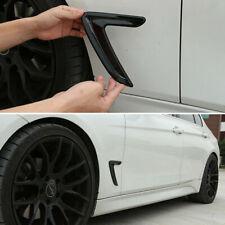 2 Pcs Black Side Marker Fender Air wing Vent Trim For BMW 3' 2013-2016