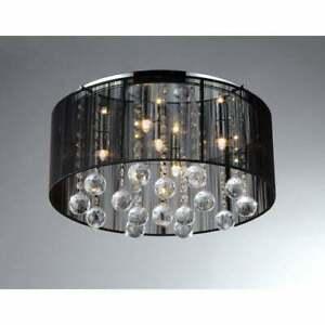 Warehouse of Tiffany Crystal Ceiling Lamp RL5072 Chrome Incandescent Flush Mount