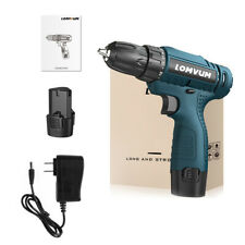 LOMVUM 12V Electric Drill Cordless Electric Screwdriver Drill Set With Battery